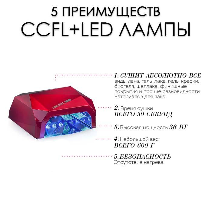 Преимущества CCFL+LED ламп